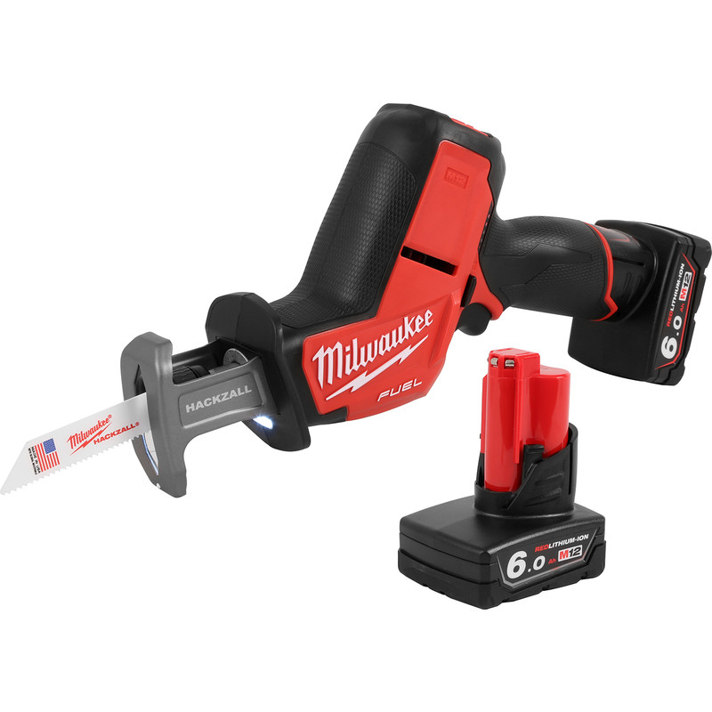 Milwaukee M12CHZ-602X 12V Li-Ion Cordless Fuel Hackzall Reciprocating Saw