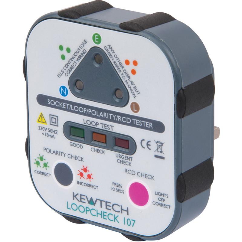 Kewtech Loopcheck 107 Plug In Socket Tester