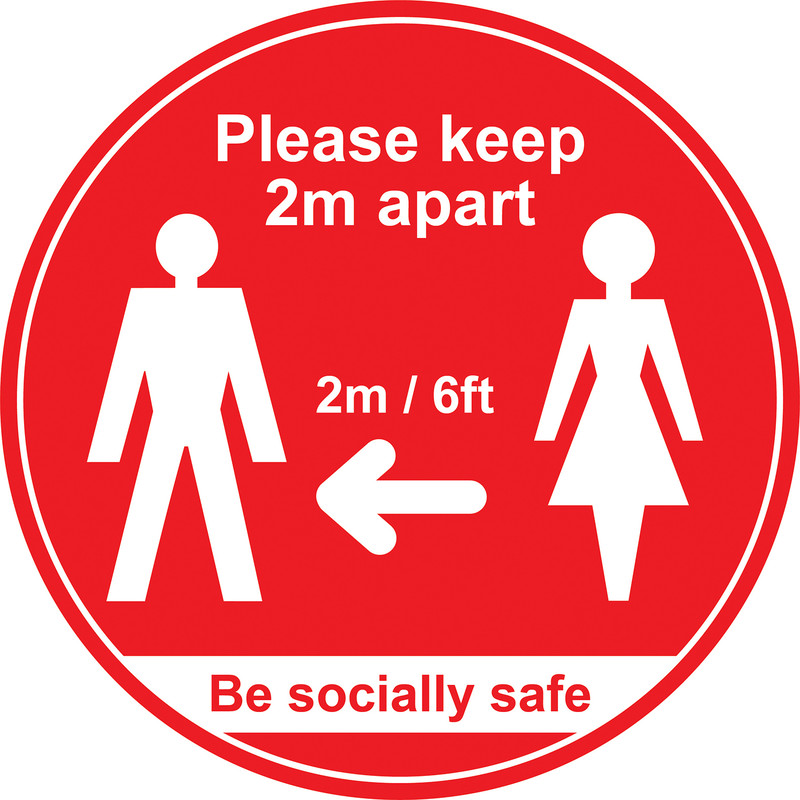 'Please Keep 2m Apart' Floor Graphic