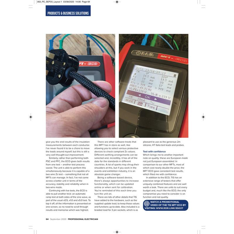 TIS Economy Multifunction Tester MFT-ECO