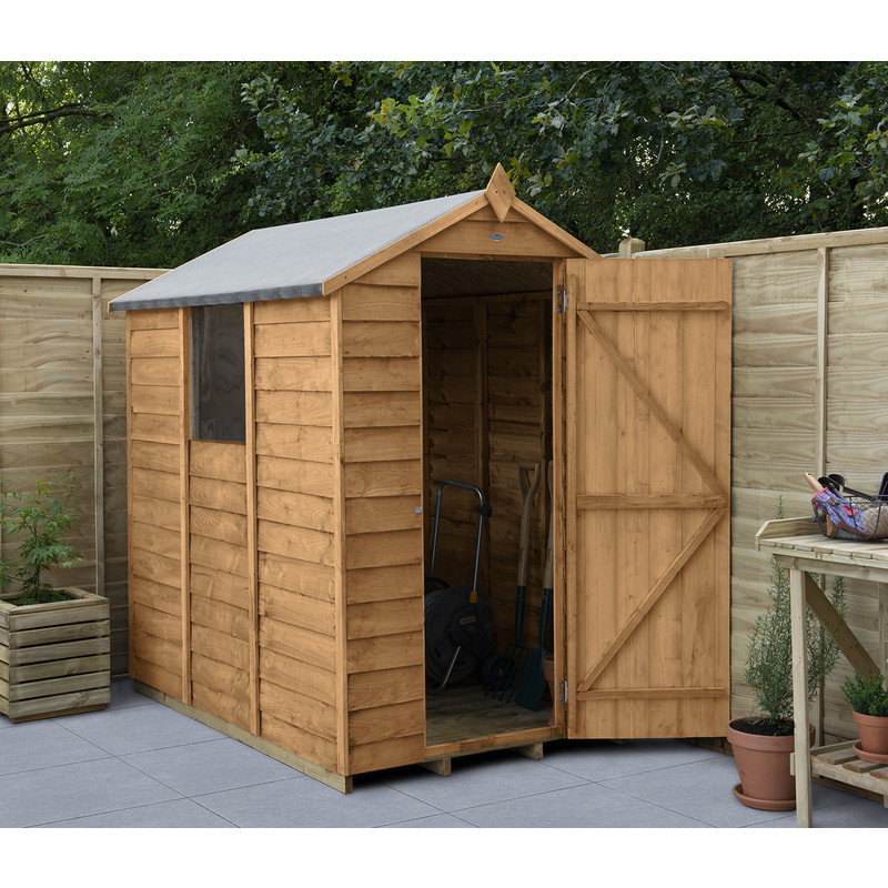 Forest Garden Overlap Dip Treated Apex Shed