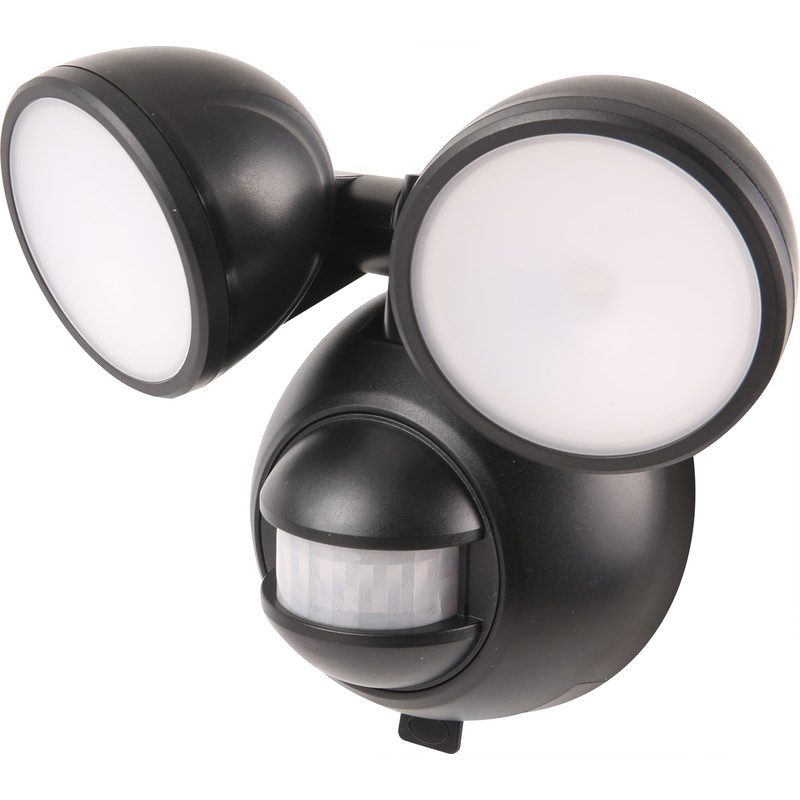 LED Battery PIR Twin Spotlight