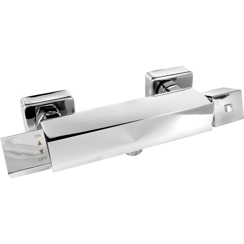 Galston Square Thermostatic Bar Mixer Shower Valve
