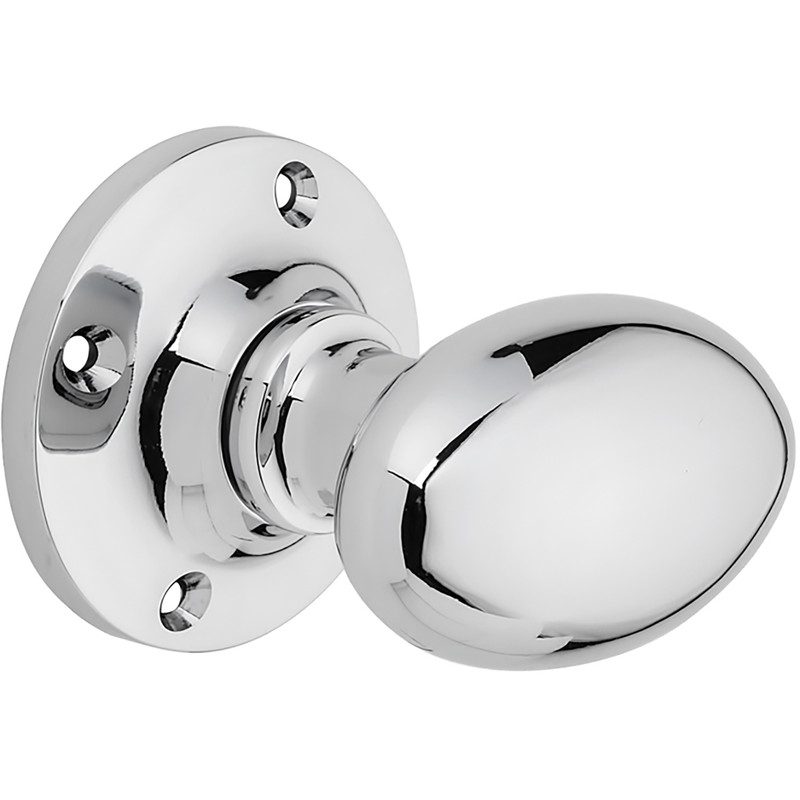 Oval Mortice Knob Set