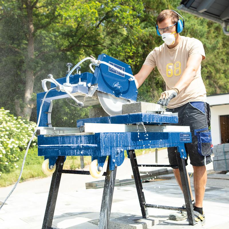 Scheppach HSM3500 2000W 350mm Stone & Brick Cutting Saw