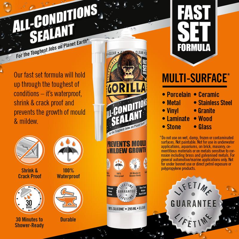 Gorilla All Conditions Sealant 295ml
