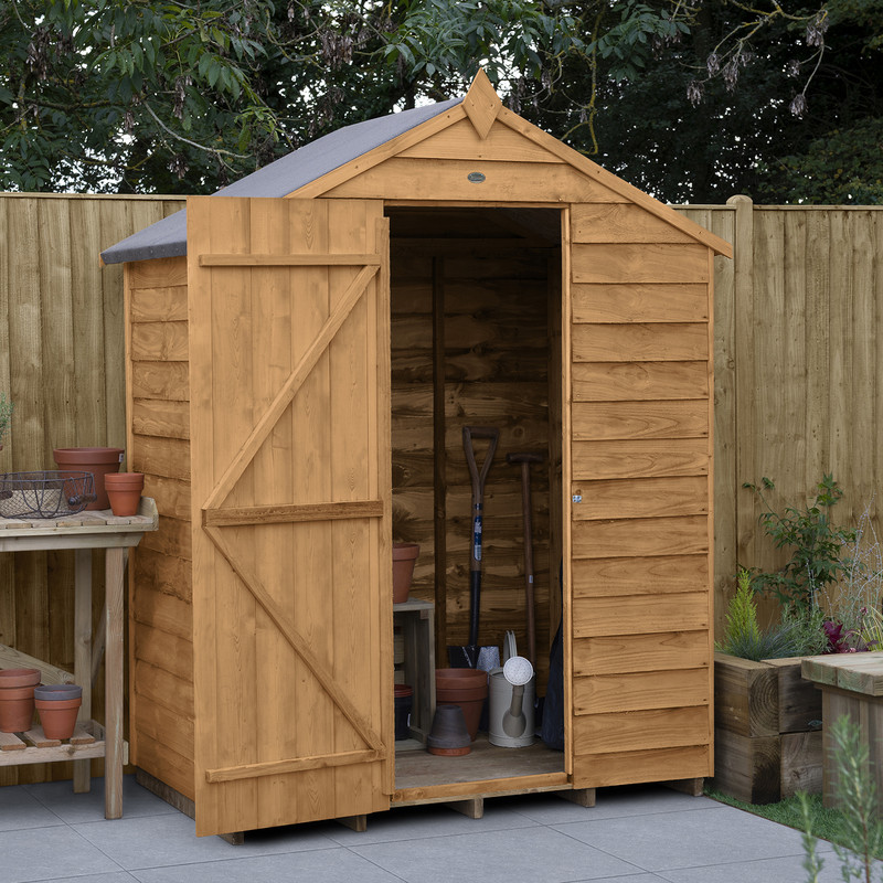 Forest Garden Overlap Dip Treated Shed - No Window