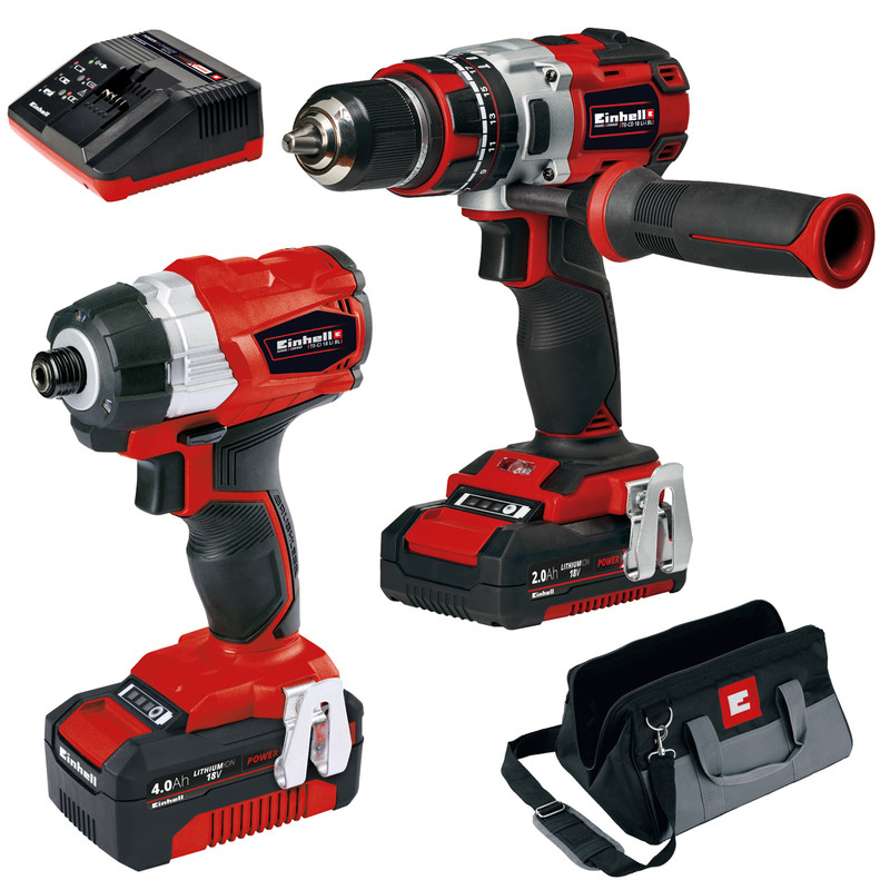 Einhell 18V Brushless Combi Drill & Impact Driver Twin Pack
