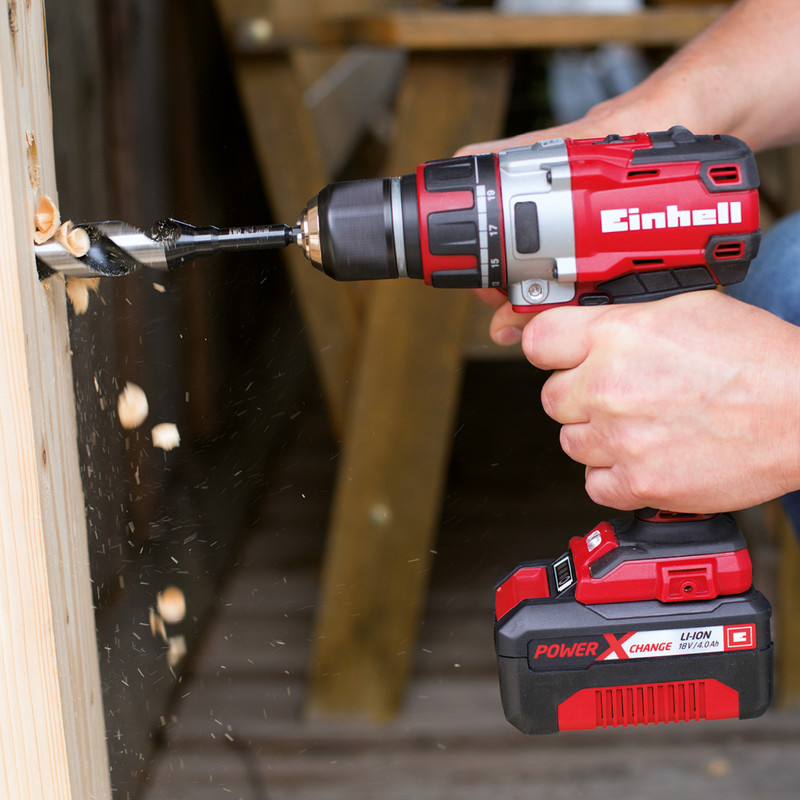 Einhell Power X-Change 18V Li-Ion Cordless Brushless Combi Drill & Impact Driver Twin Pack
