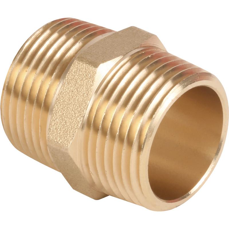 Made4Trade Brass Hexagonal Nipple