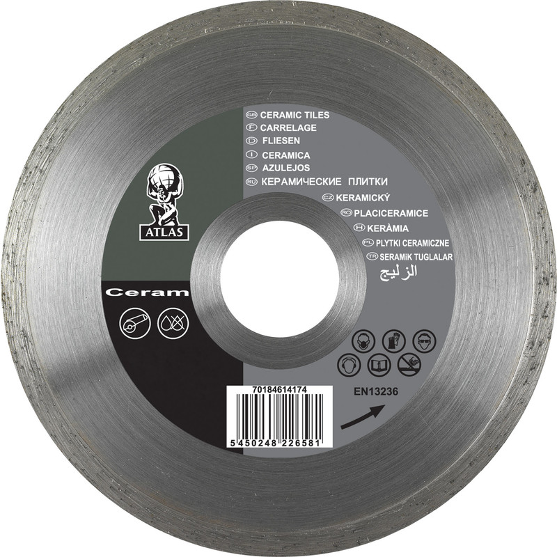 Ceramic Tile Cutting Disc 115 X 222mm