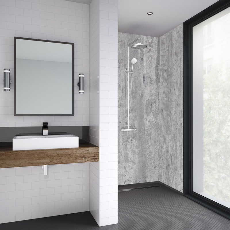 Mermaid Platinum Stone Laminate Shower Wall Panel