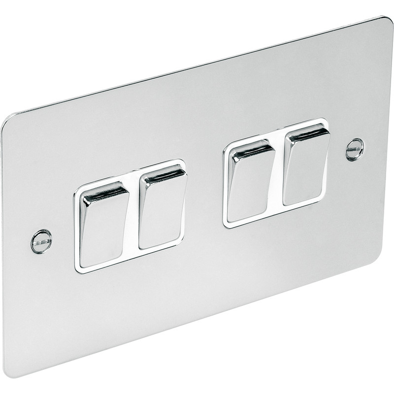 Flat Plate Polished Chrome 10A Switch