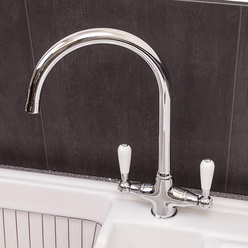 Reginox Dual Lever Kitchen Sink Mono Mixer Tap