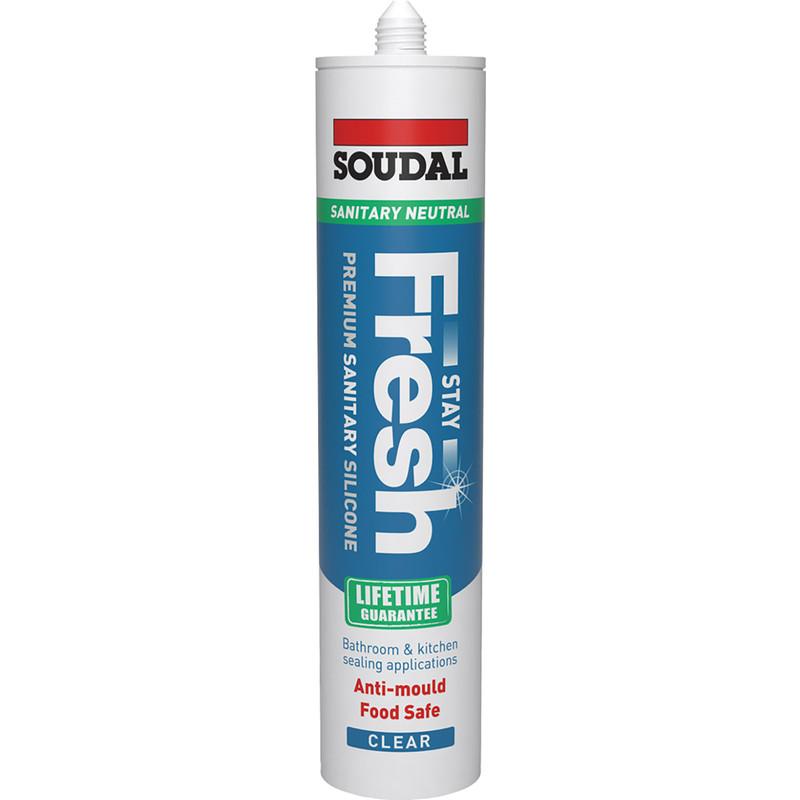 Soudal Stay Fresh Sanitary Silicone Sealant
