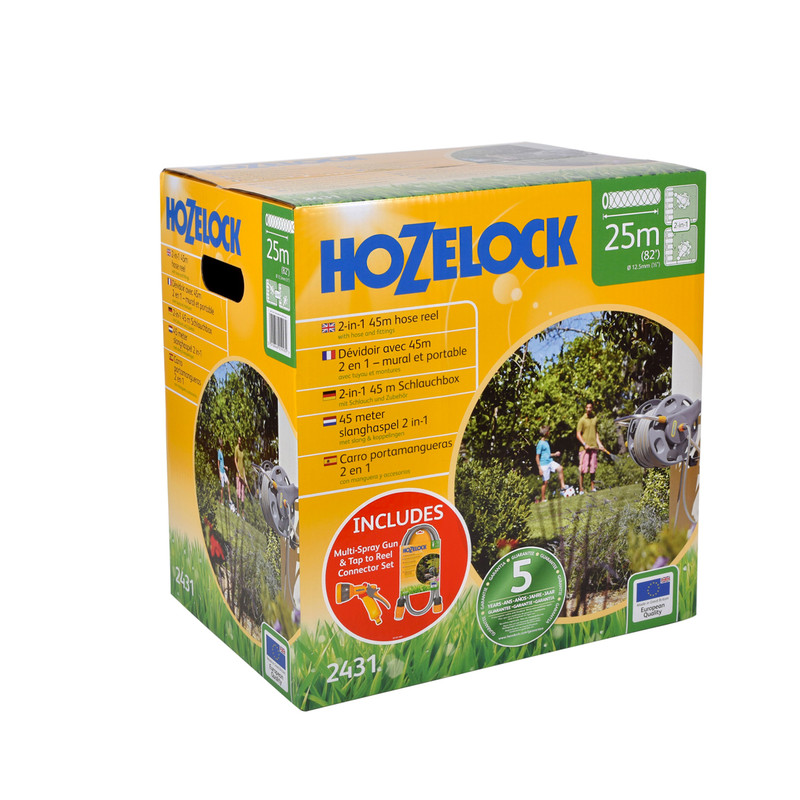 Hozelock Assembled 2-in-1 Hose Reel