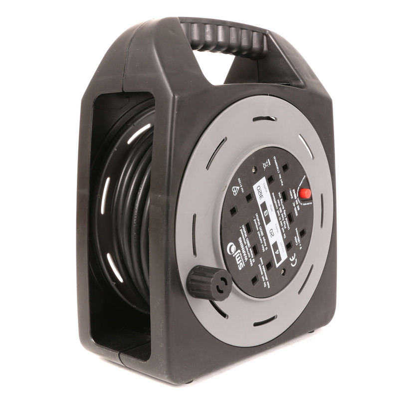 SMJ 4 Socket RCD 13A Semi-enclosed Cable Reel