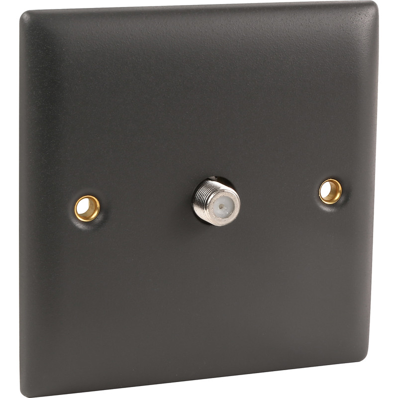 Power Pro Anthracite Satellite Outlet