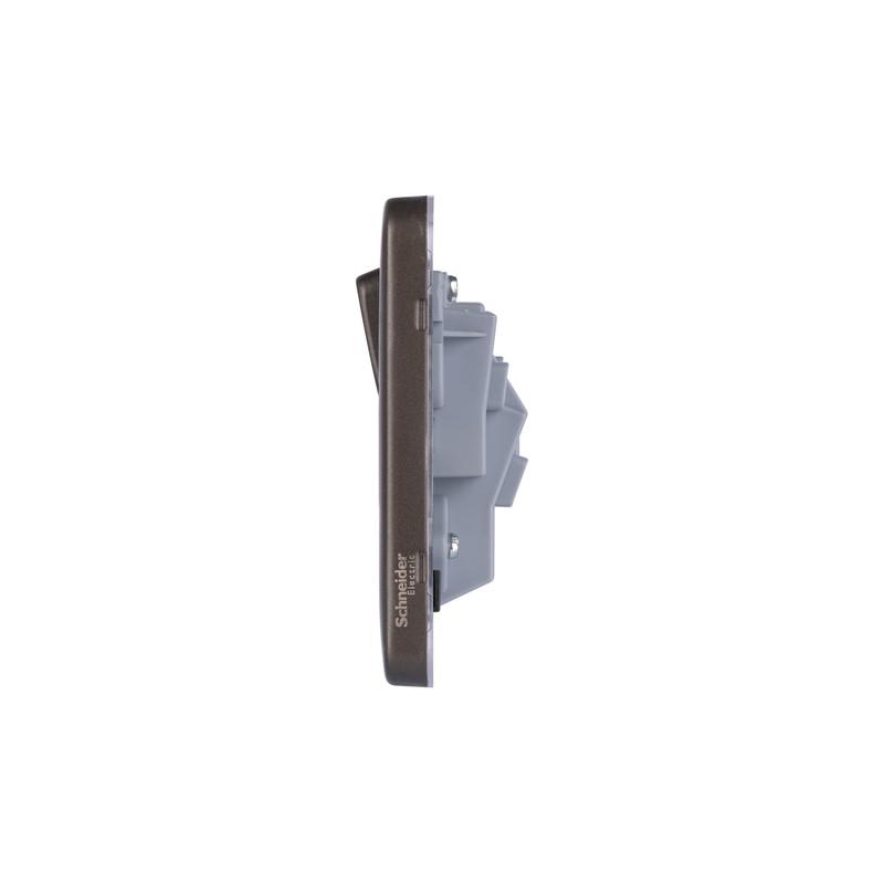 Schneider Electric Lisse Mocha Bronze Screwless 13A Switched Socket