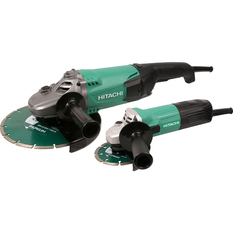 Hitachi G23ST / G12ST 115mm & 230mm Angle Grinder Twin Pack