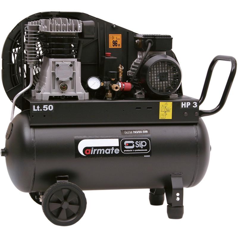 SIP 06258 Oil Lubricated Belt Drive 50L 3HP Compressor