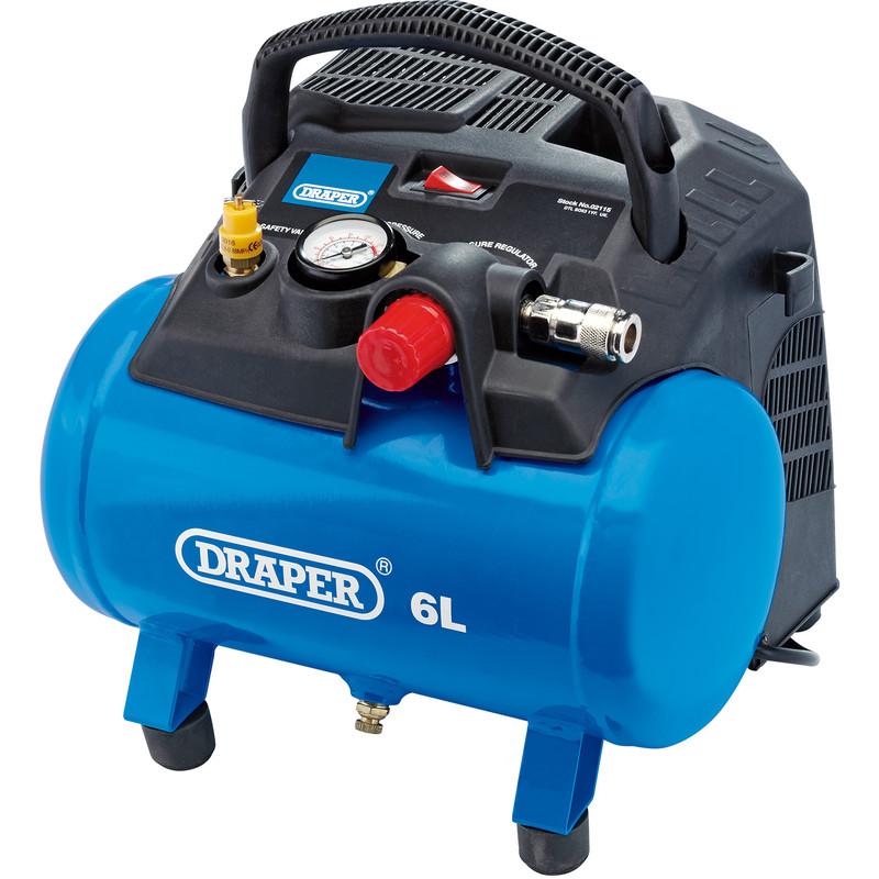 Draper 6L 1200W Oil-Free Air Compressor
