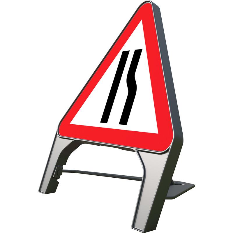 "Melba Swintex Q Sign ""Road Narrows Right"" Safety Sign"