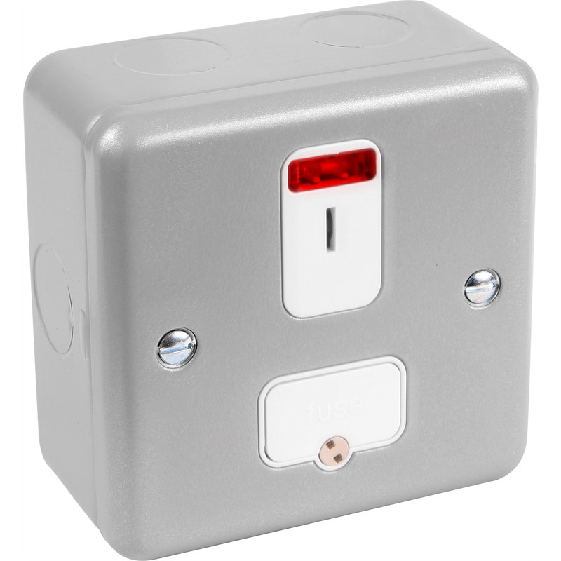 MK Metal Clad 13A  DP Connection Unit with Secret Key