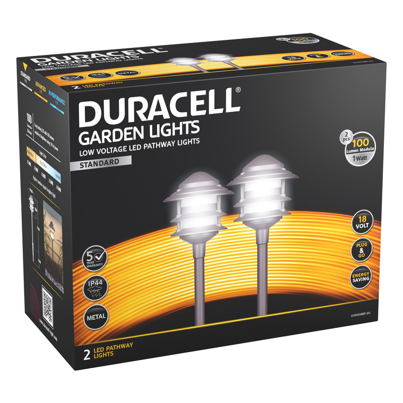 Duracell Pagoda LV LED Garden Pathway Light IP44 100lm